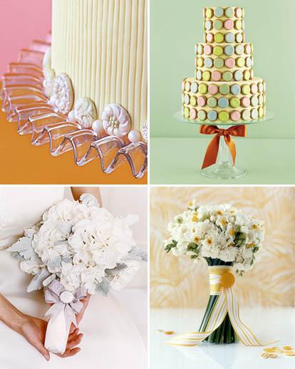 Cakes courtesy Brides.com, Bouquets courtesy Martha Stewart Weddings